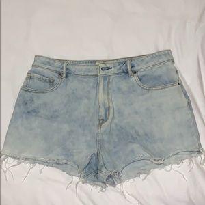 Light denim (slightly acid washed) shorts